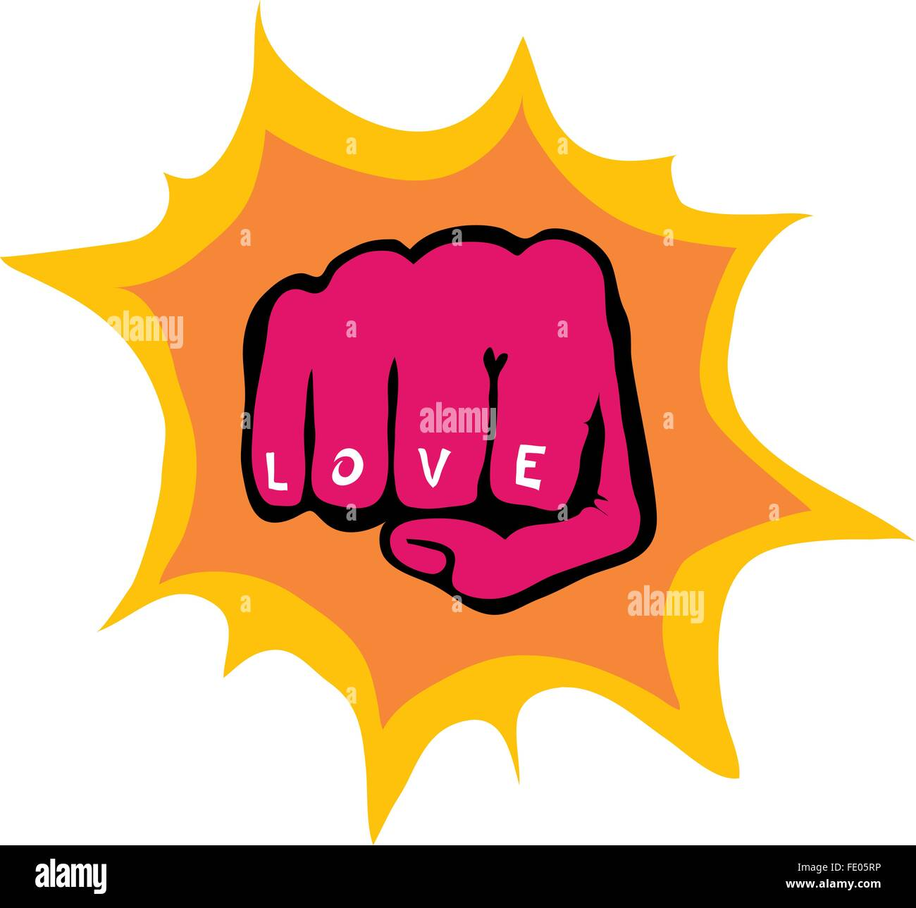 Fight for love - Stock Image