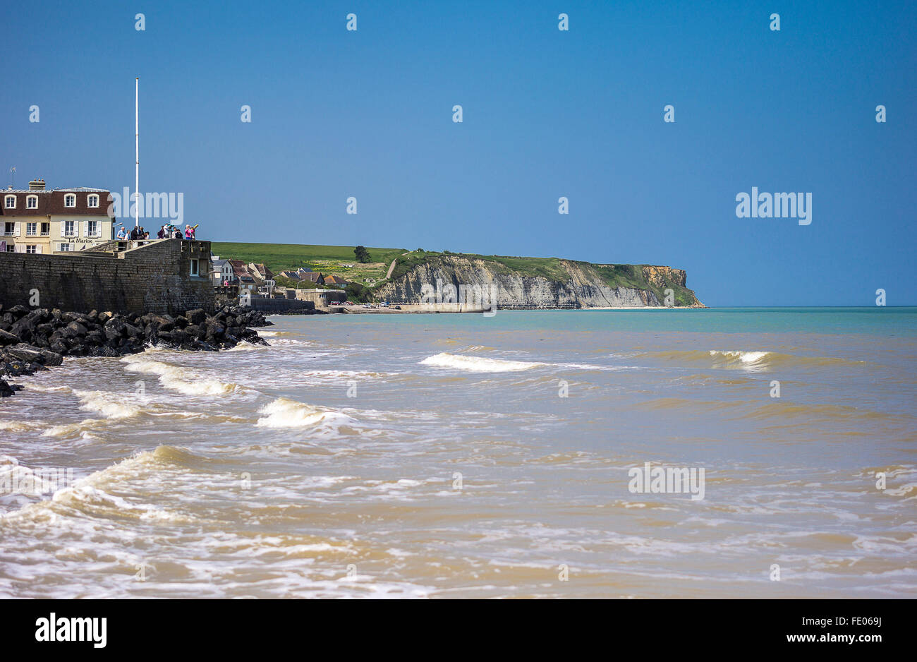 France, Normandy, Ouistreham, the places of the second World War lending - Stock Image