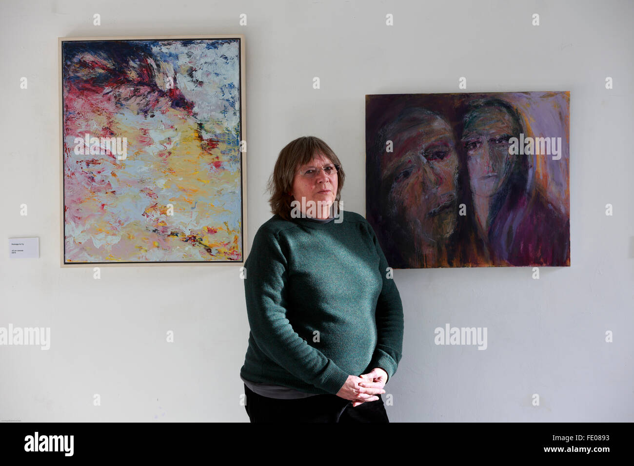 Edinburgh, Scotland, UK. 3rd February 2016. An exceptional art exhibition is running in Edinburgh St Margaret House - Stock Image