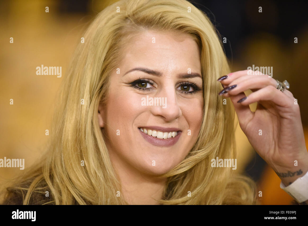 The Voice contestant Megan Reece Credit:  David Bagnall/Alamy Live News - Stock Image
