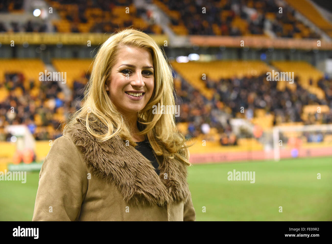 The Voice contestant Megan Reece appearing at Molineux Stadium Credit:  David Bagnall/Alamy Live News - Stock Image