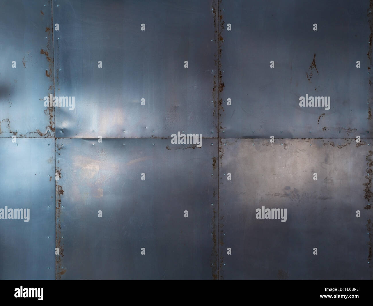 metal rust stains - Stock Image
