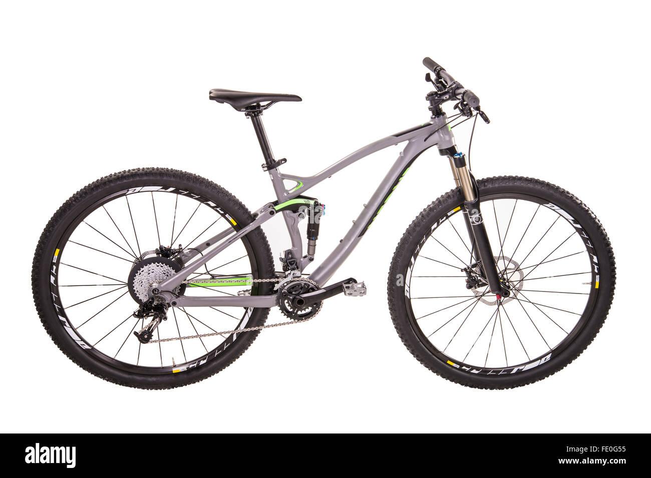 Modern mountain bike - Stock Image