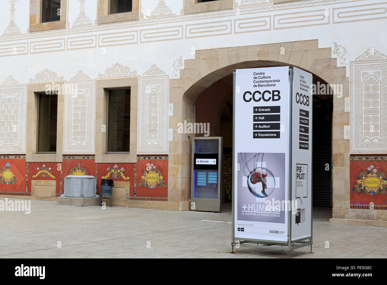 Centre de Cultura Contemporania de Barcelona, Catalonia, Spain, Europe - Stock Image