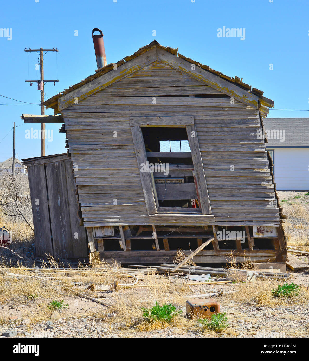old collapsing leaning shed stock photo 94669980 alamy