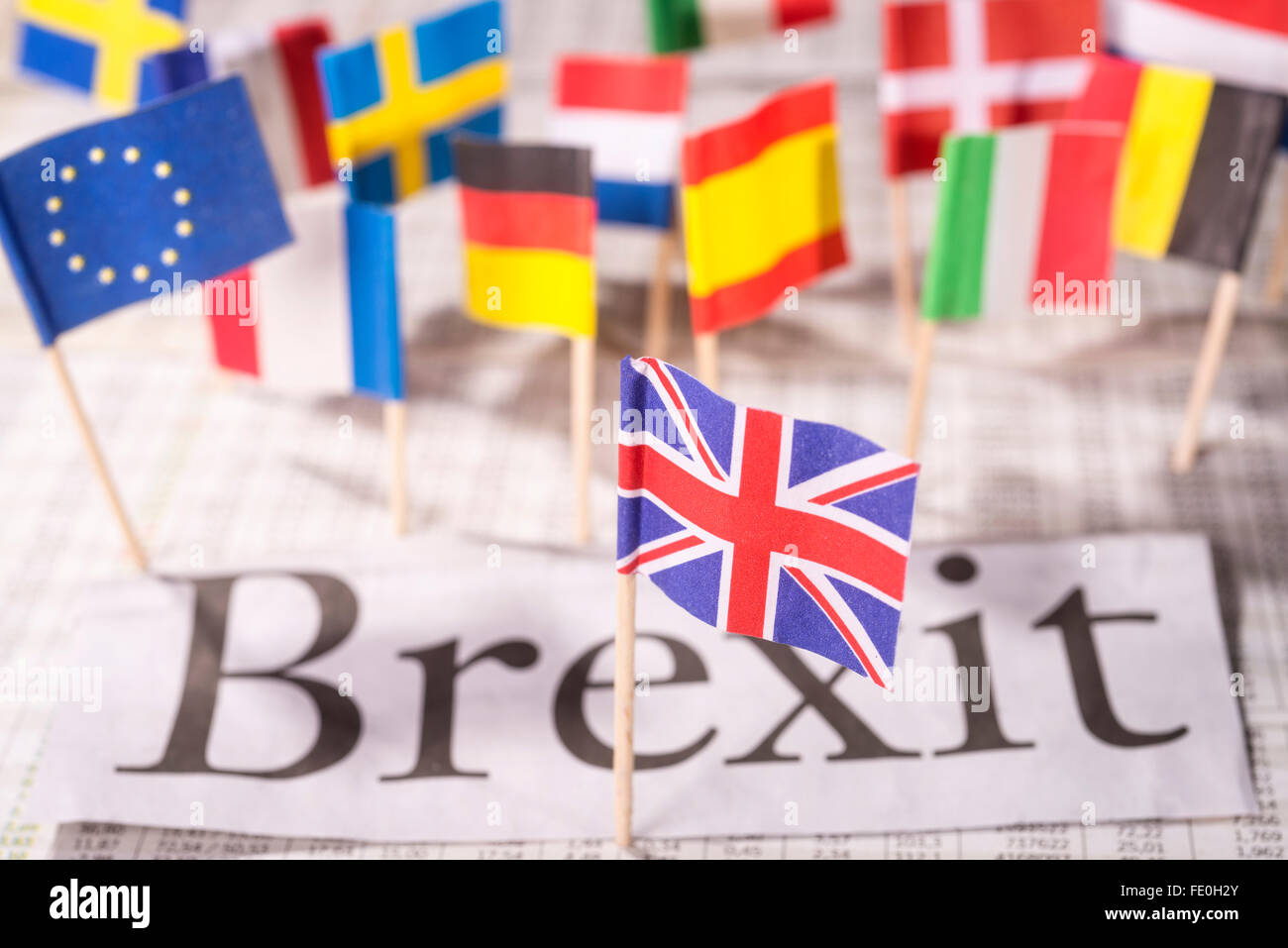 The exit of Britain from the European Union, the 'Brexit' - Stock Image