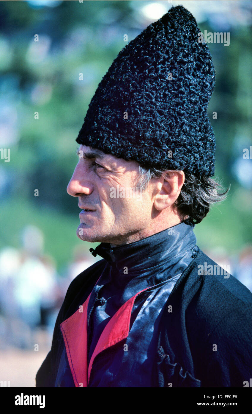 National Costume Hat Stock Photos Winter Wh 94 Portrait Of A Georgian Man In Traditional Or Dress And Conical Fur