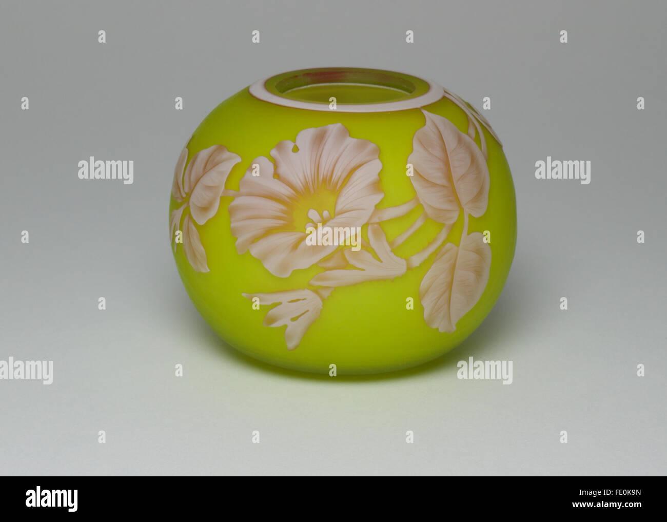 Antique 19th century Webb cameo glass vase - Stock Image