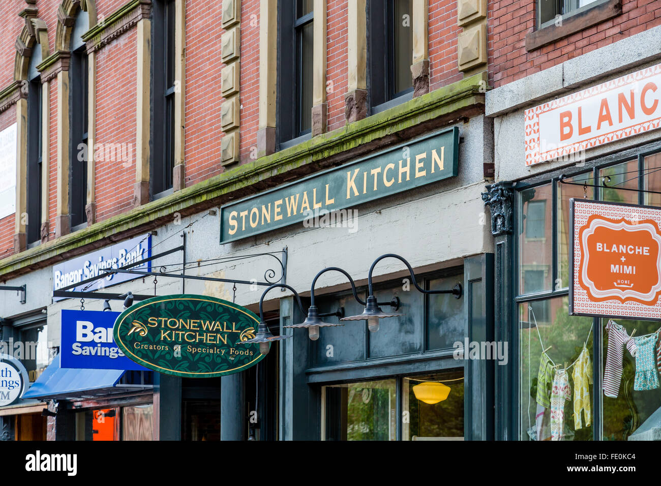 stonewall kitchen store on portland maine street stock photo rh alamy com kitchen store portland me kitchen supply store portland maine