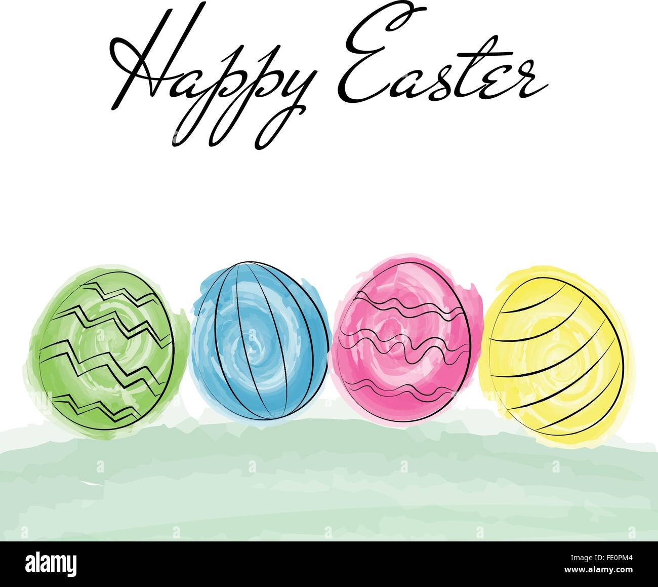 Happy Easter Greetings Card Stock Photos Happy Easter Greetings