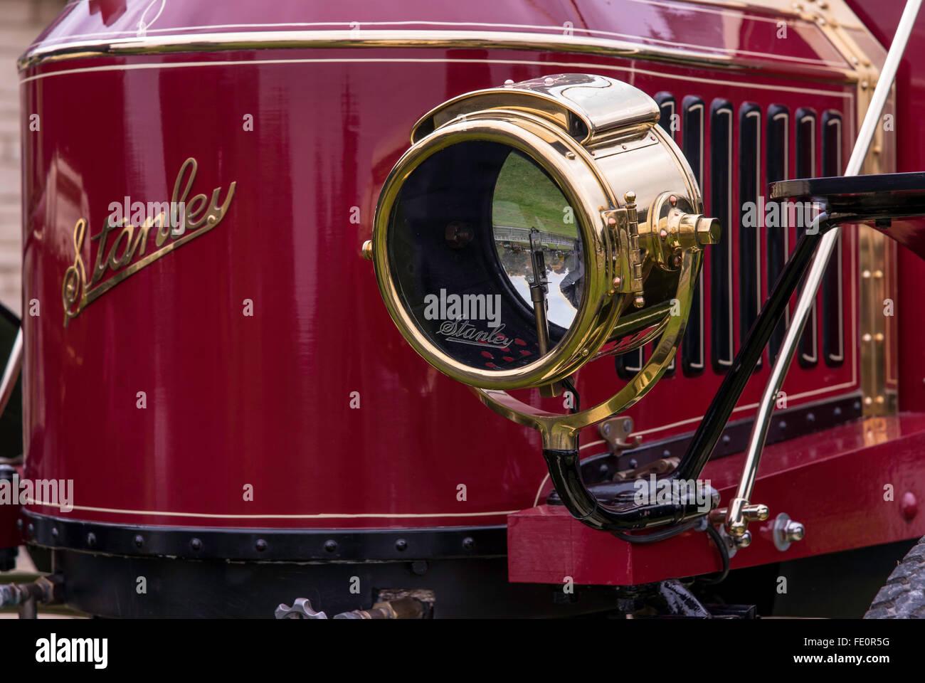 Detail of Stanley Steamer Vintage motor car - Stock Image