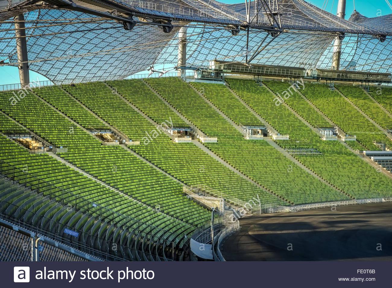 Olympiastadion Munich - Stock Image
