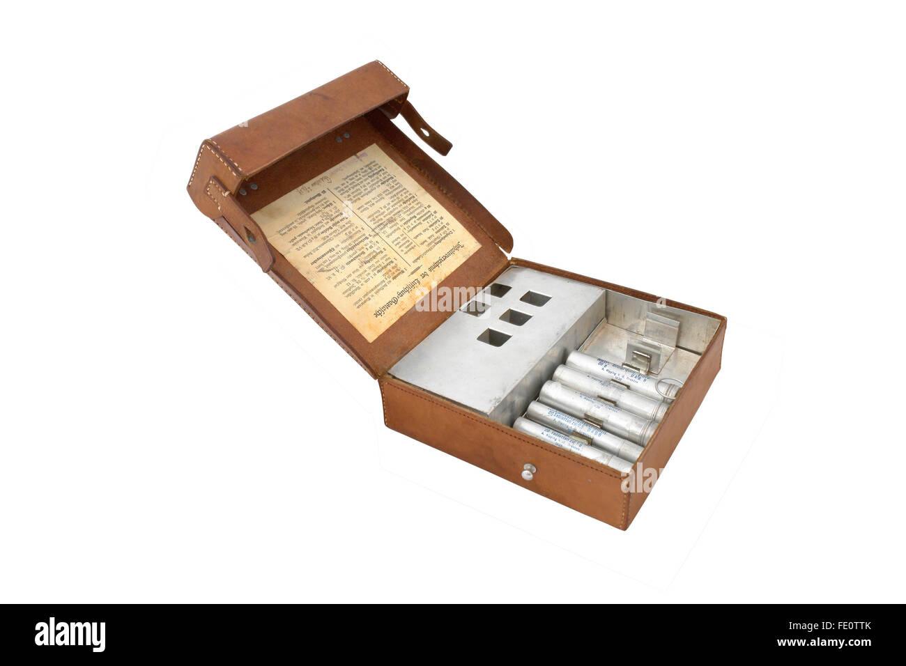German standard military first aid kit. WW2 - Stock Image