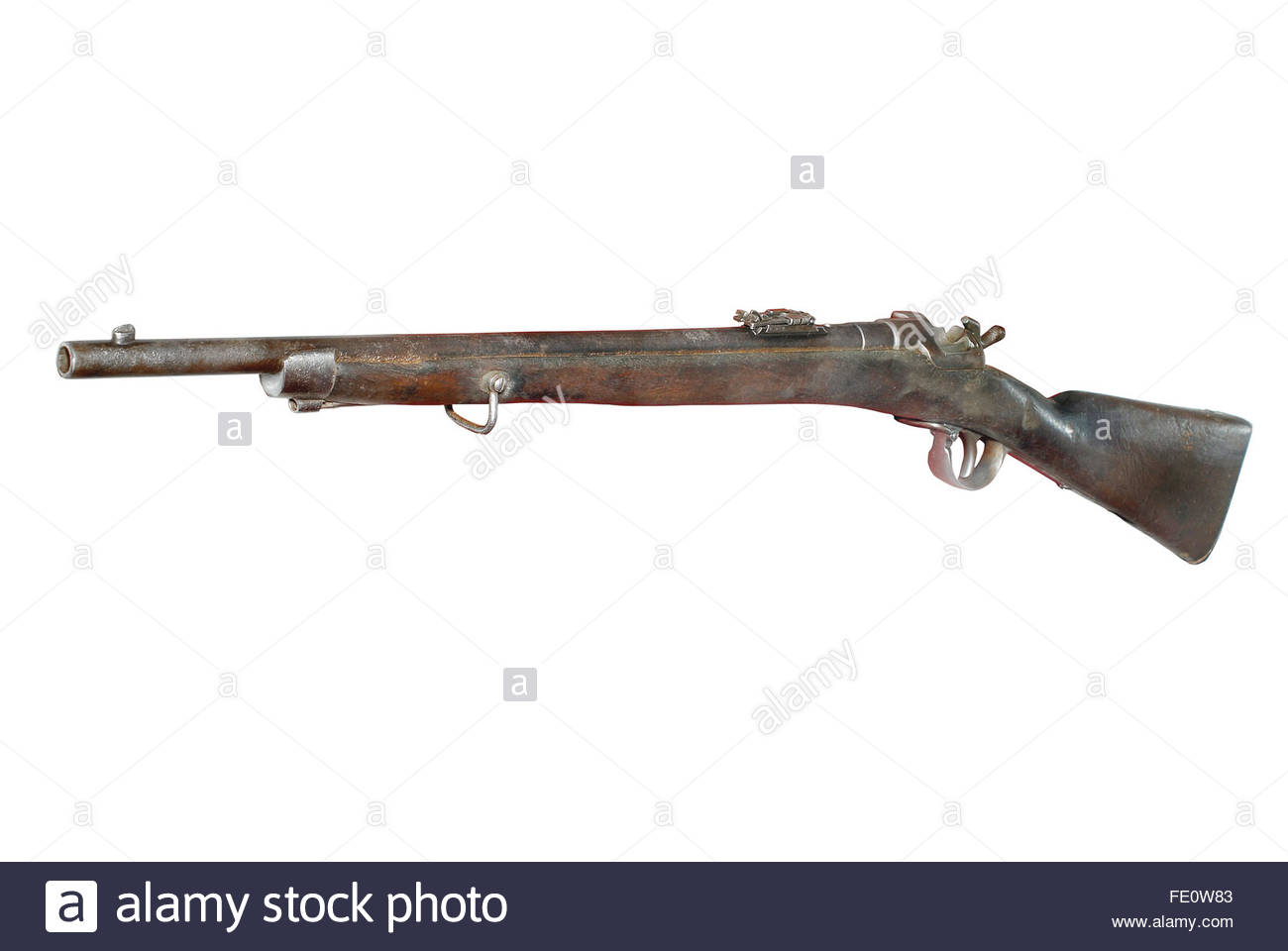 19th century Austrian cavalry short rifle (model of 1873-1878), Werndl system. - Stock Image