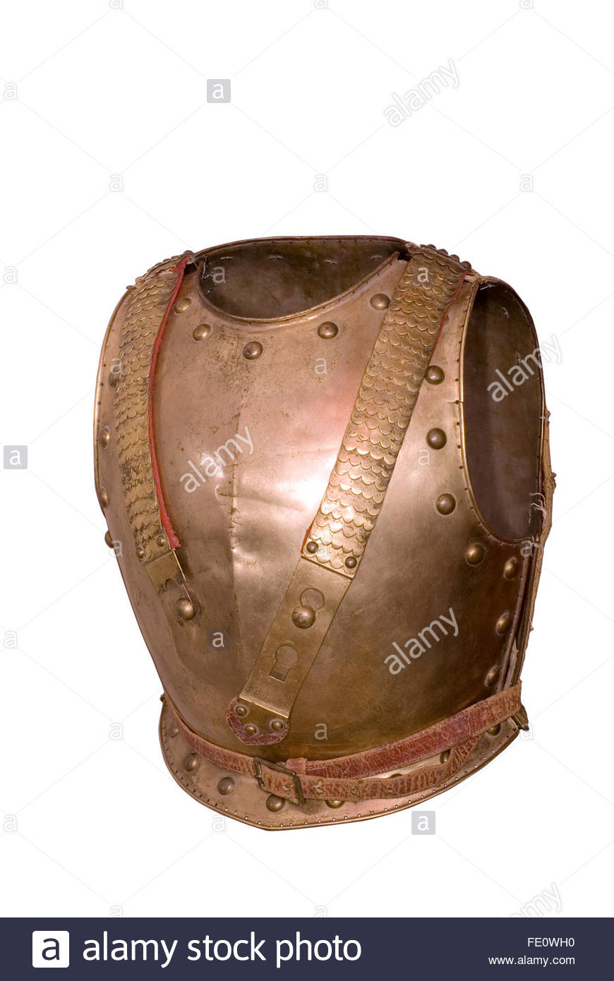 Armour (cuirass) of Russian dragoon (front side). Russia. 1796-1801. Period of Napoleonic-wars - Stock Image