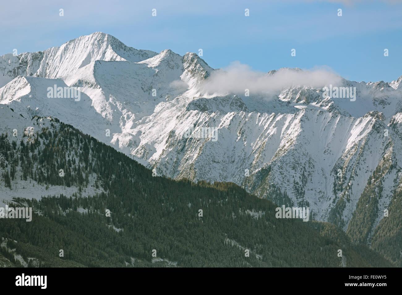 Mountain Range in Tyrol, Alps, Austria Stock Photo