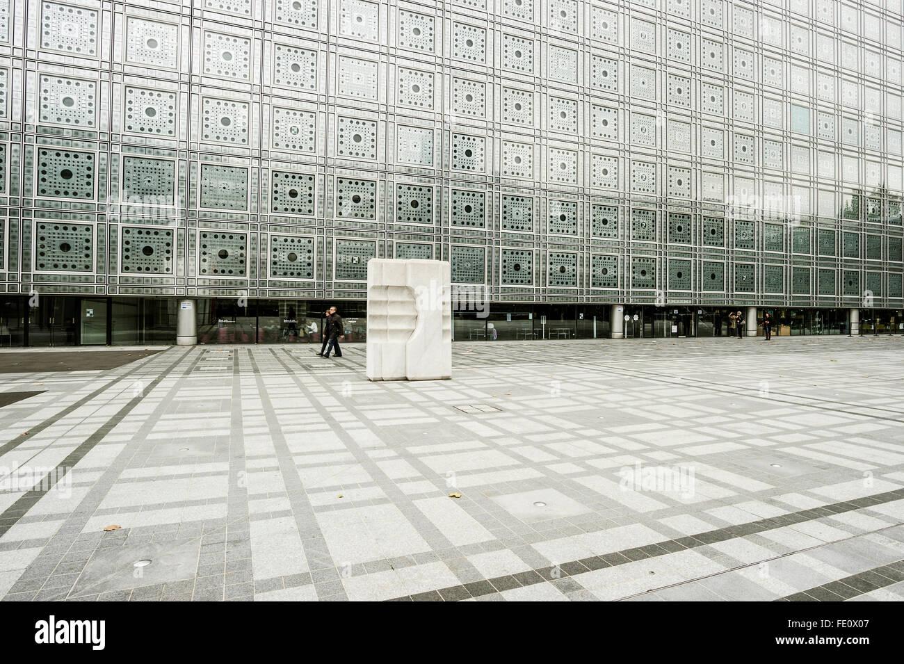 Arab World Institute, Institut du Monde Arabe, Paris, Ile-de-France, France - Stock Image