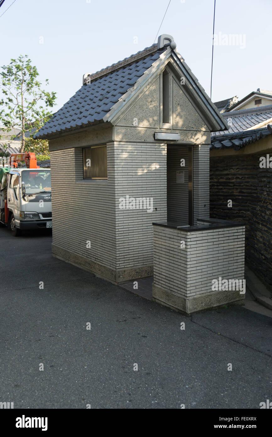 public toilet loo in Japan - Stock Image