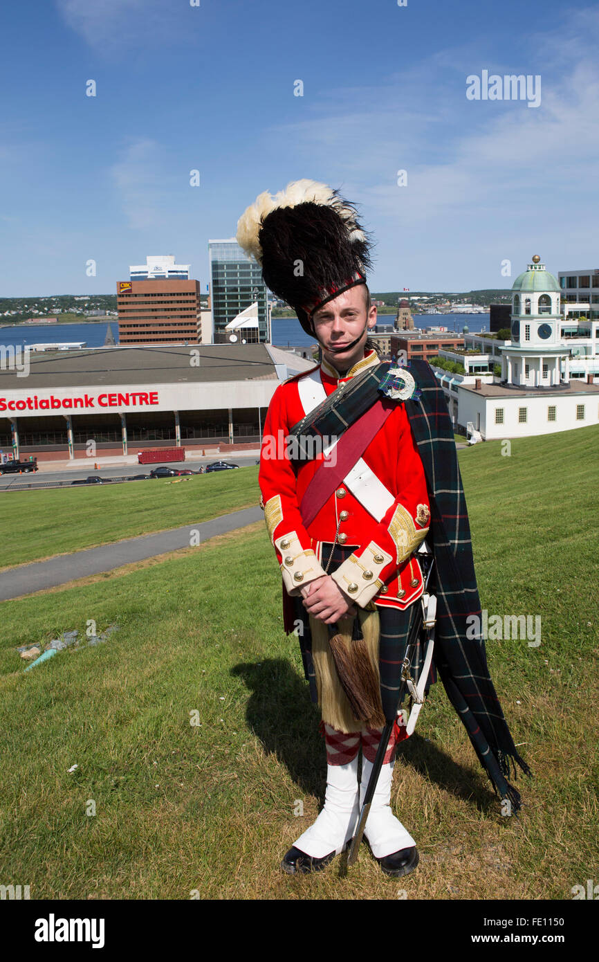 A Man In The Uniform Of 78th Highlanders At Citadel Fort George Halifax Canada
