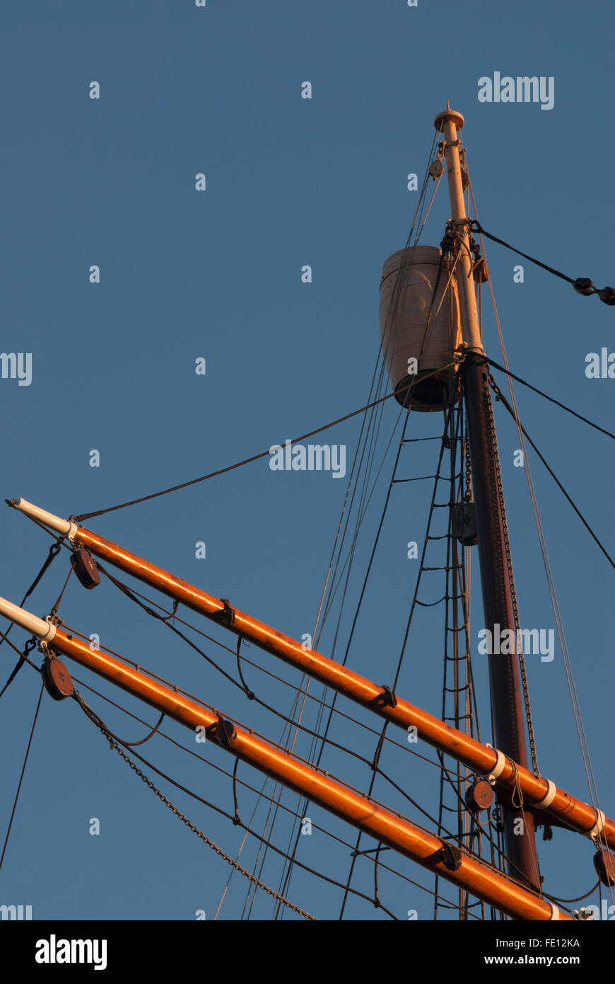 Crow's Nest on RRS Discovery, Discovery Point, Dundee, Scotland, UK. Stock Photo