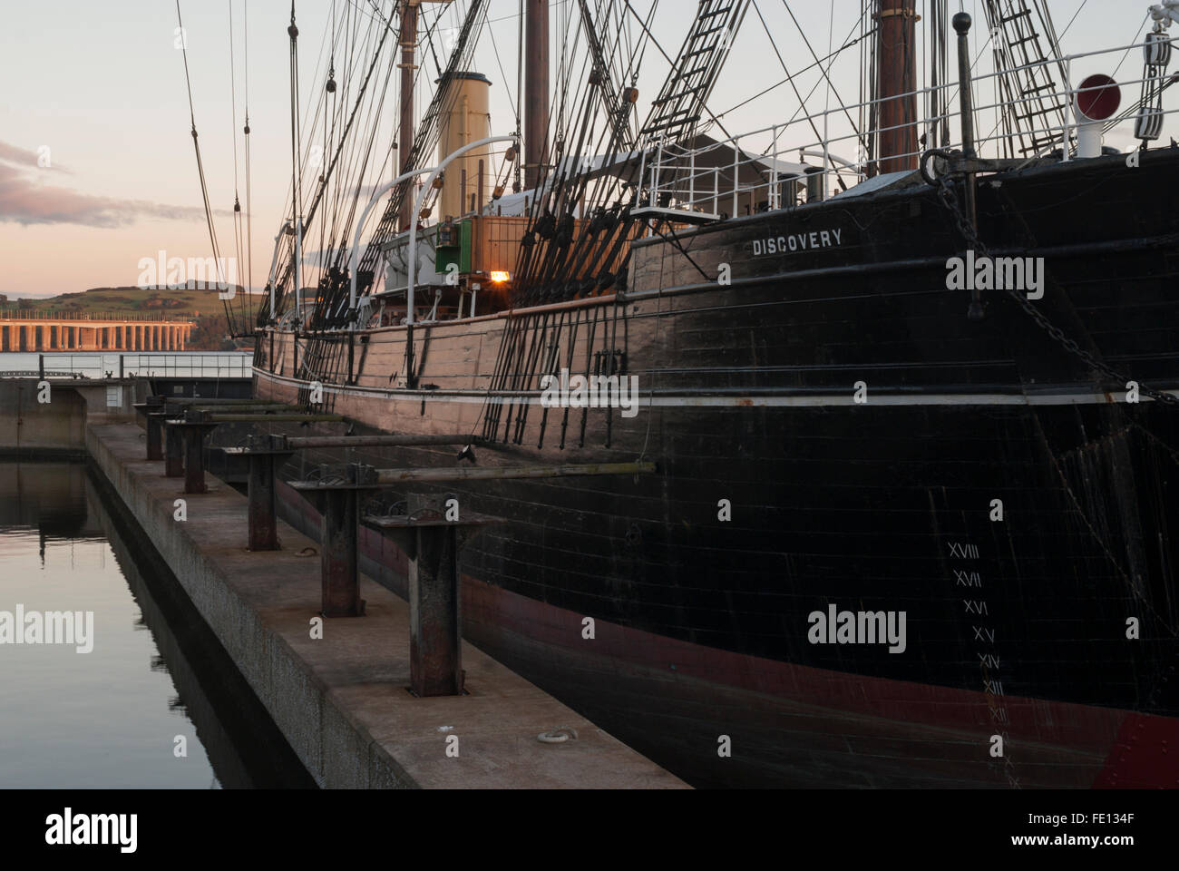 RRS Discovery, Discovery Point, Dundee, Scotland,UK. Stock Photo