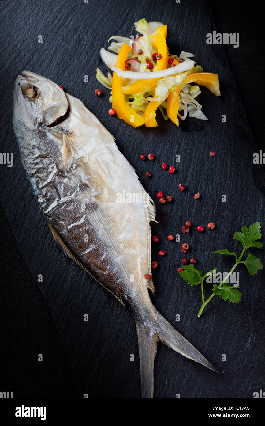 Baked Fish - Stock Image