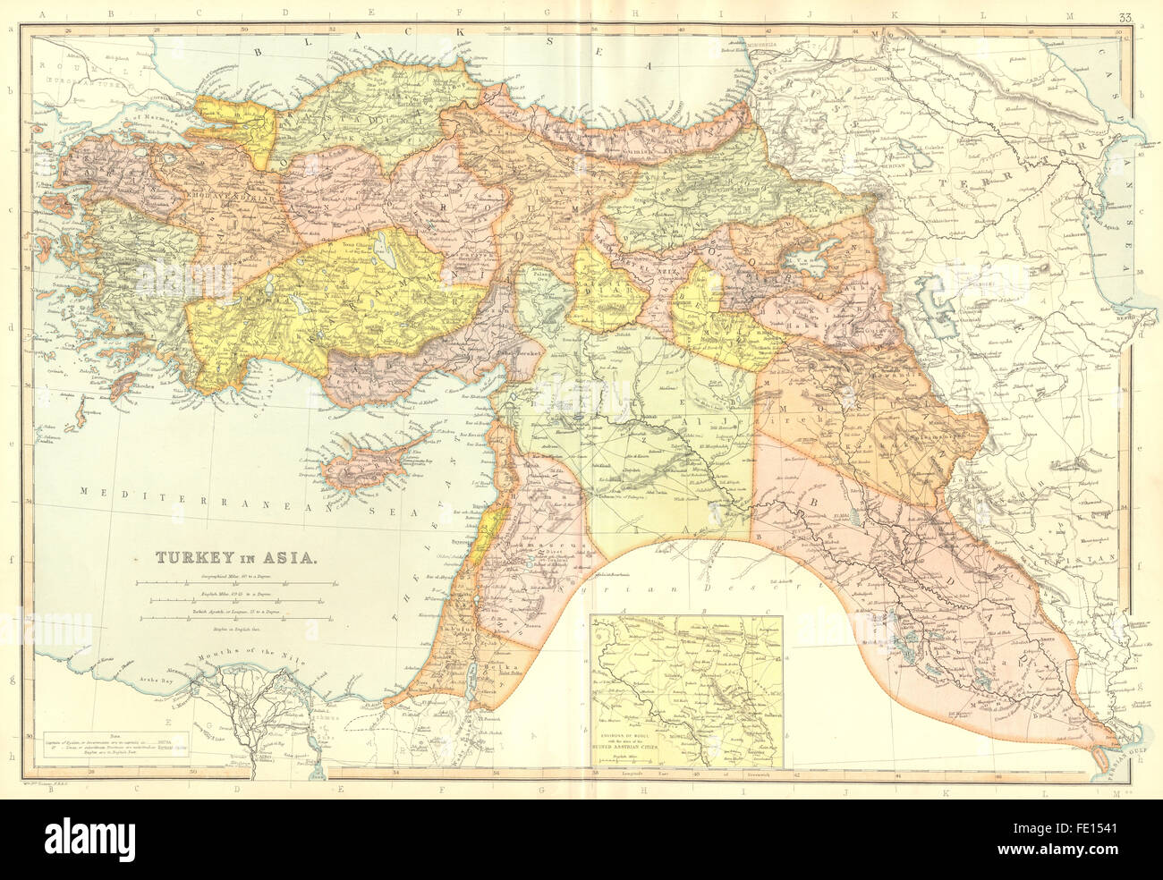 Turkey in asia iraq syria palestineset mosul assyrian cities turkey in asia iraq syria palestineset mosul assyrian cities 1893 map gumiabroncs Choice Image