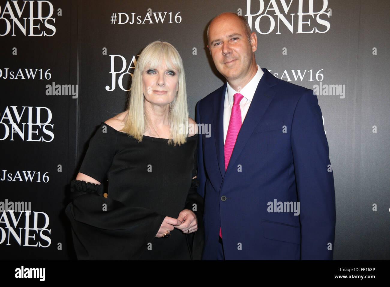 388f3fcdf4498 Donna Player and David Jones CEO John Dixon arrive at the David Jones  Autumn/Winter 2016 Collection Launch at David Jones Elizabeth Street Store.