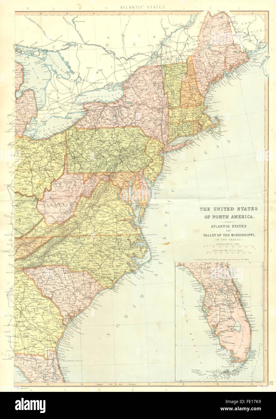 Map Of America Eastern Seaboard.Usa Eastern Seaboard Fl Nc Sc Ny Nj Va Ct De Md Pa Wv Blackie