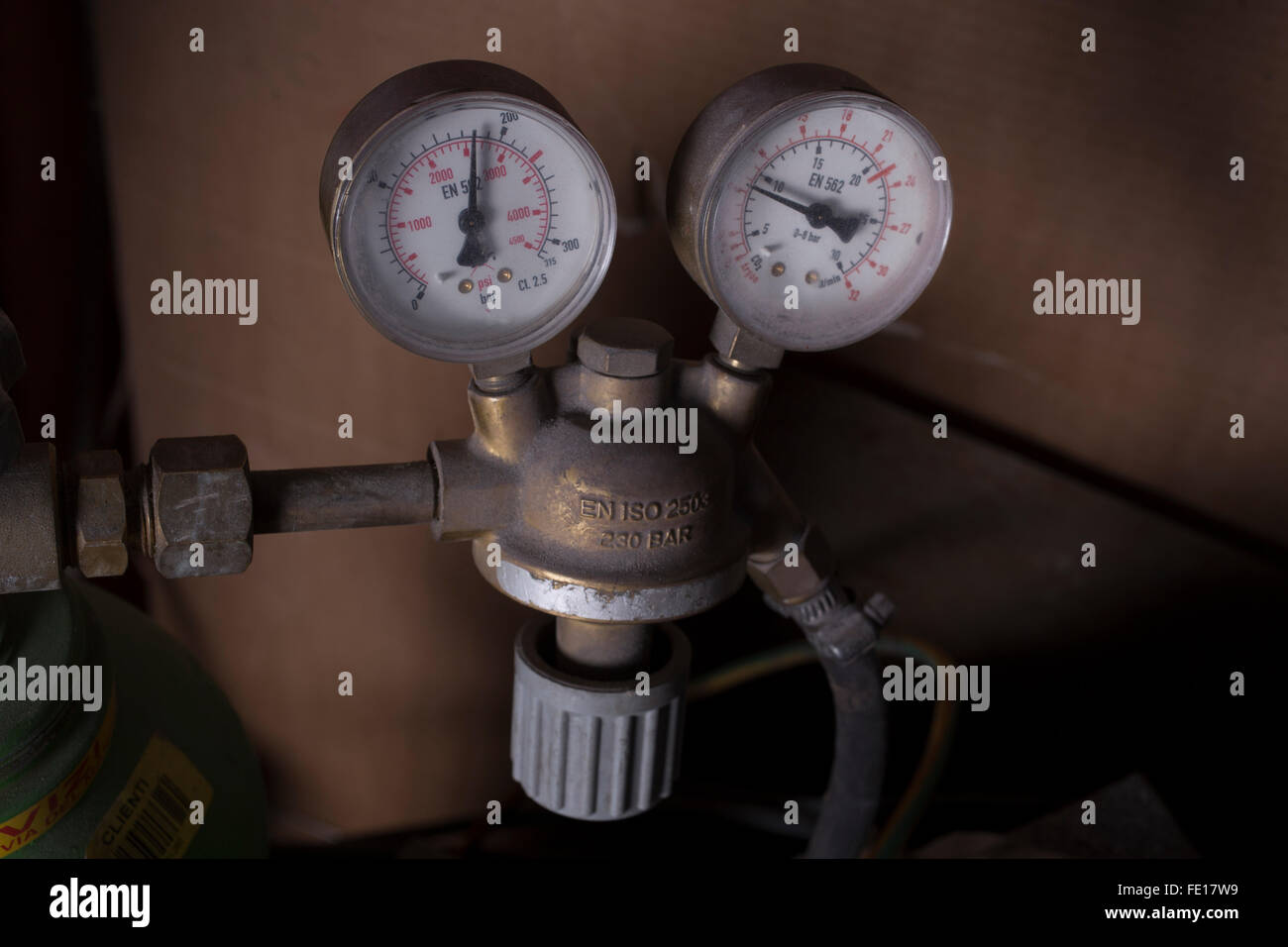 Two manometers or gauge - Stock Image