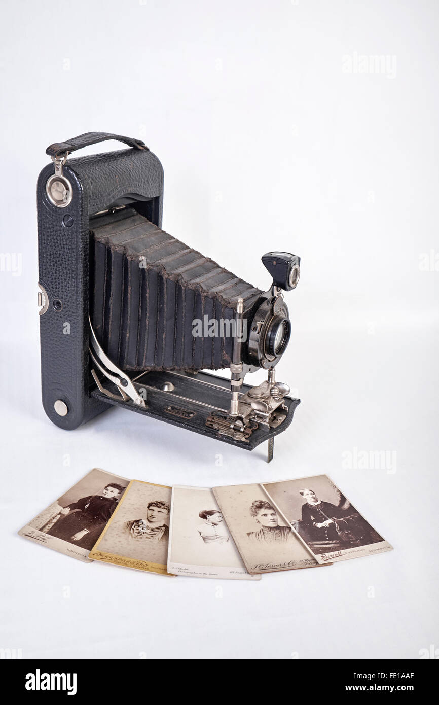 Film Camera. Vintage Kodak  Autographic film Camera - Stock Image
