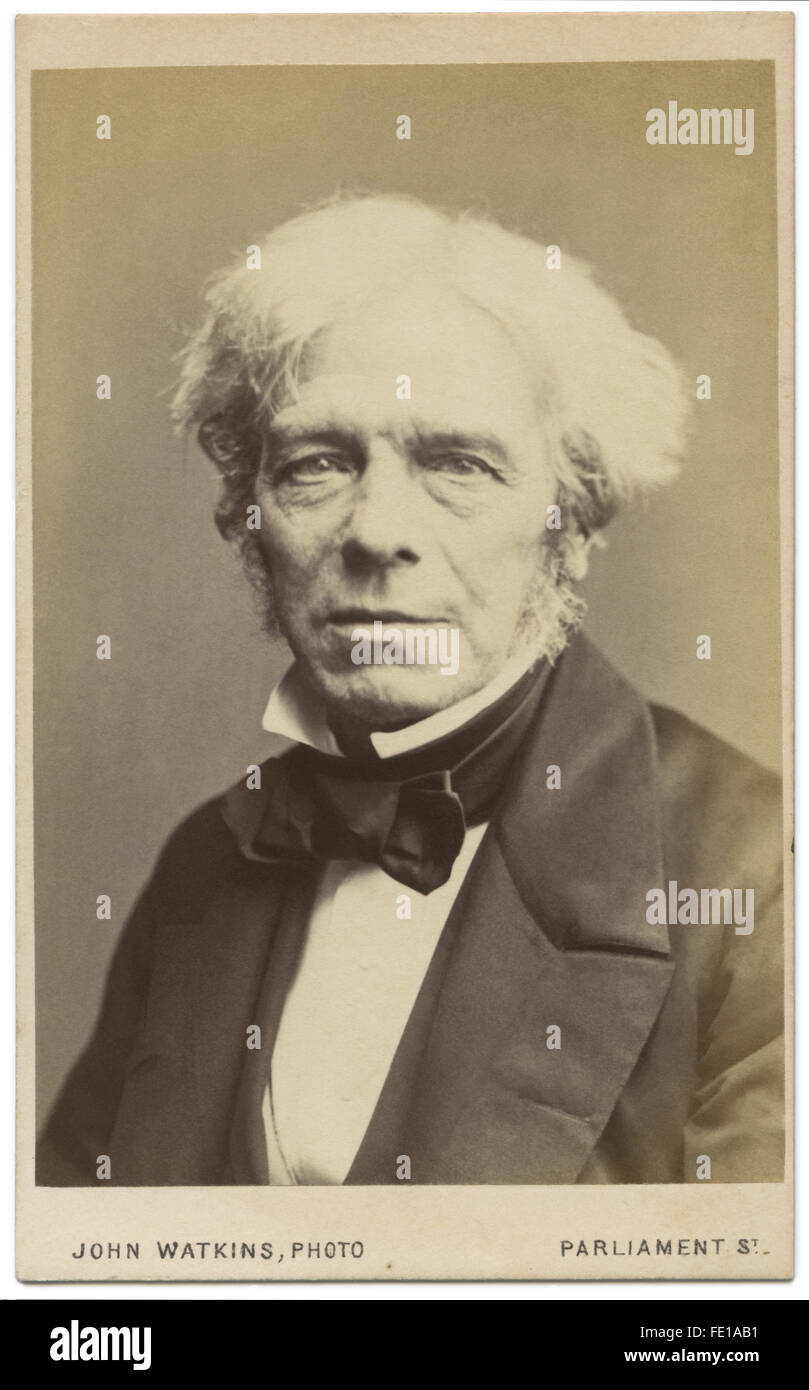 Carte De Visite Of Michael Faraday One The Most Influential Scientists In
