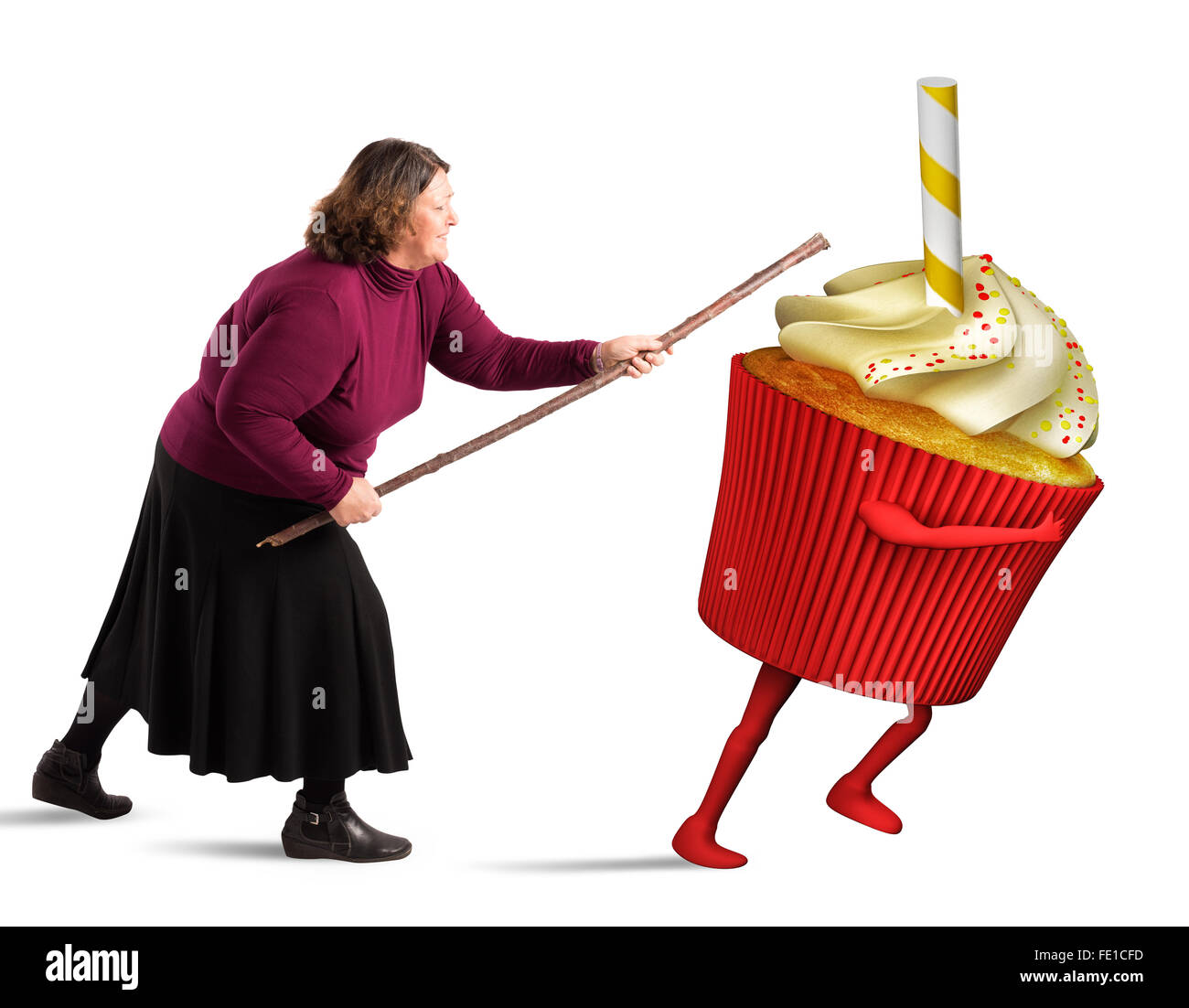 Combat calories - Stock Image