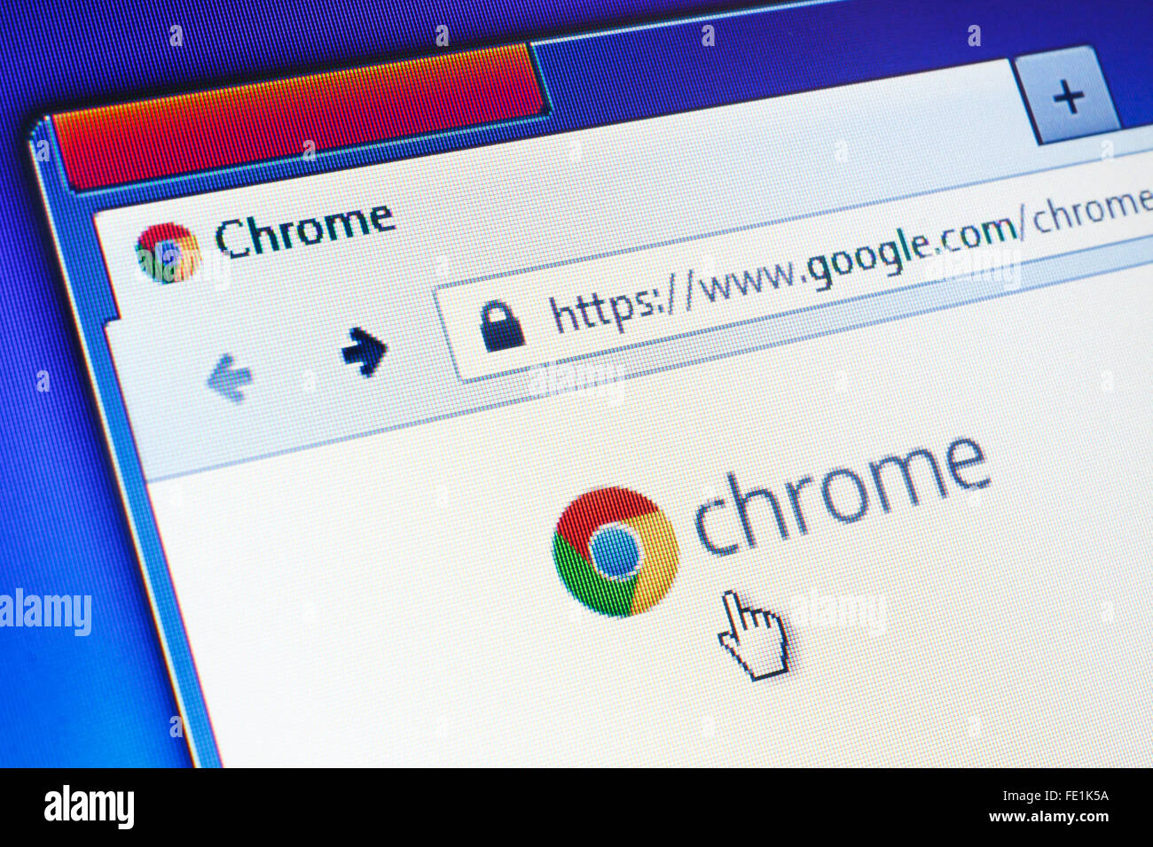 GDANSK, POLAND - SEPTEMBER 10, 2015. Google Chrome homepage on computer screen. Editorial use only - Stock Image