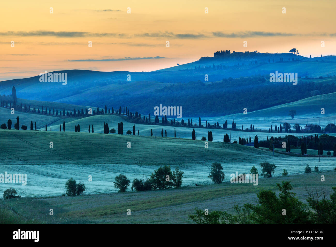 Crete Senesi, Tuscany, Italy Stock Photo
