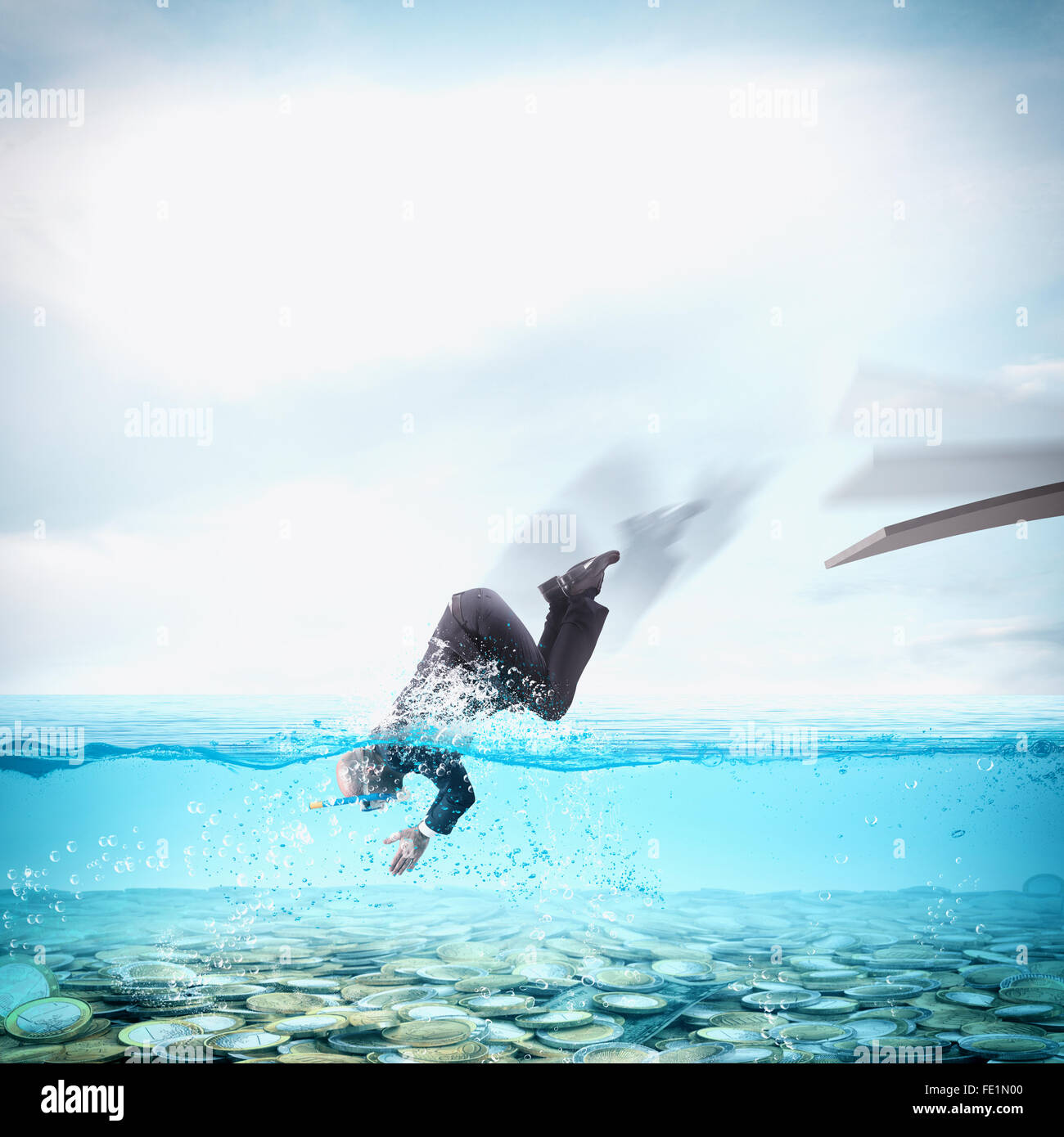 Wealth pool Stock Photo
