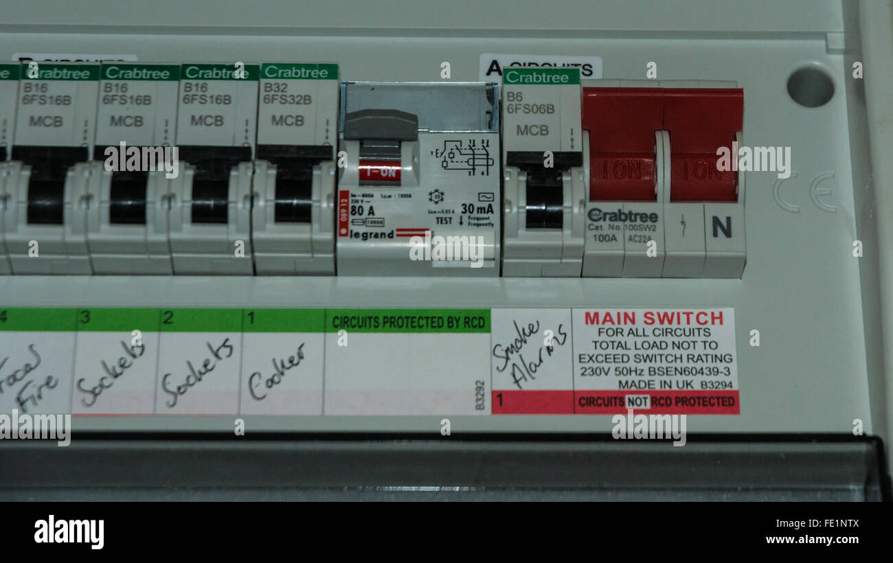 fuse box stock photos & fuse box stock images alamy breaker box an  electricity fuse box