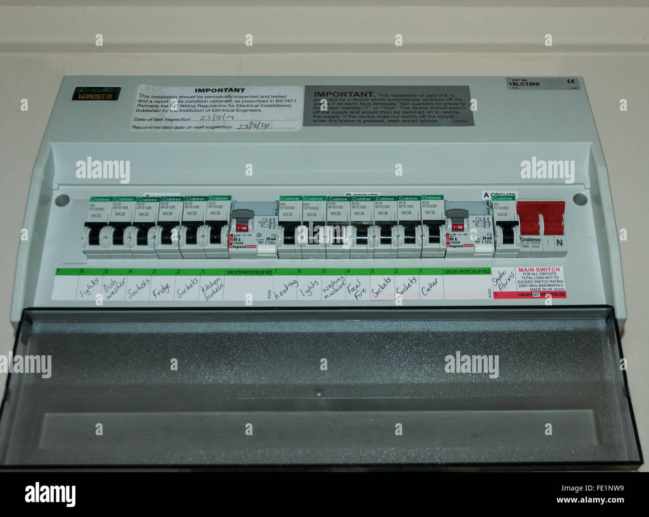 an electricity fuse box stock photo 94696149 alamy rh alamy com fuse box electricity fuse box electrical conn automotive