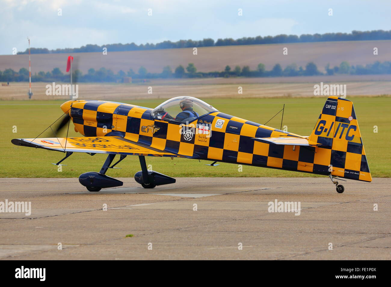 CAP Aviation CAP-232 G-IITC ready for takeoff at Duxford Air Show, Cambridge, UK - Stock Image