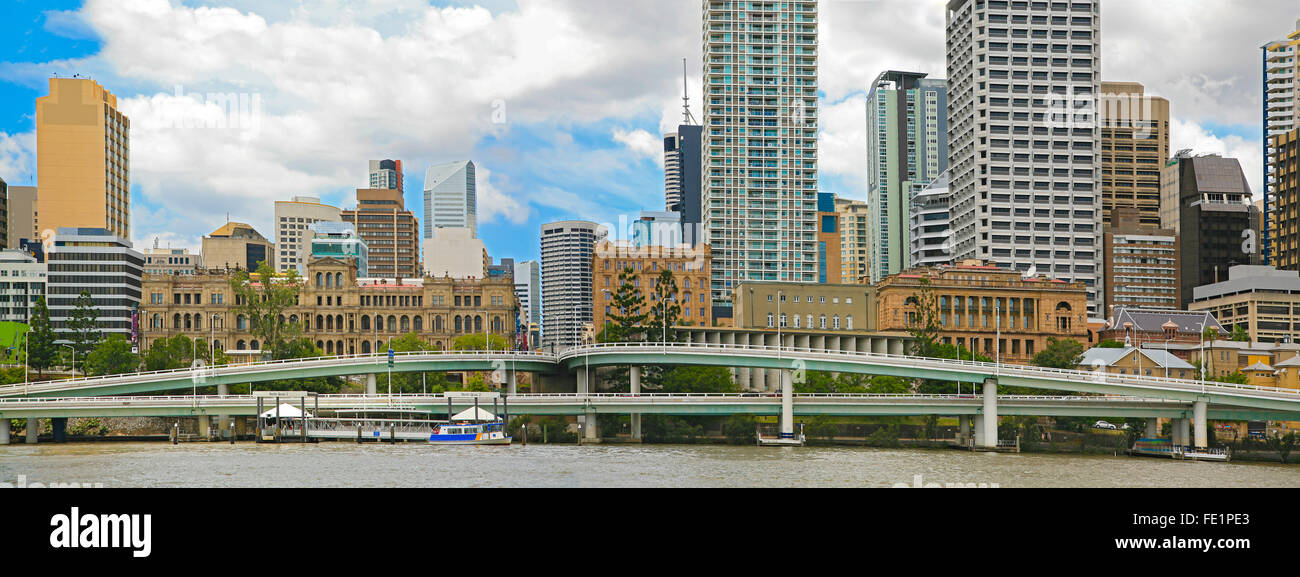Brisbane City Panorama - Stock Image
