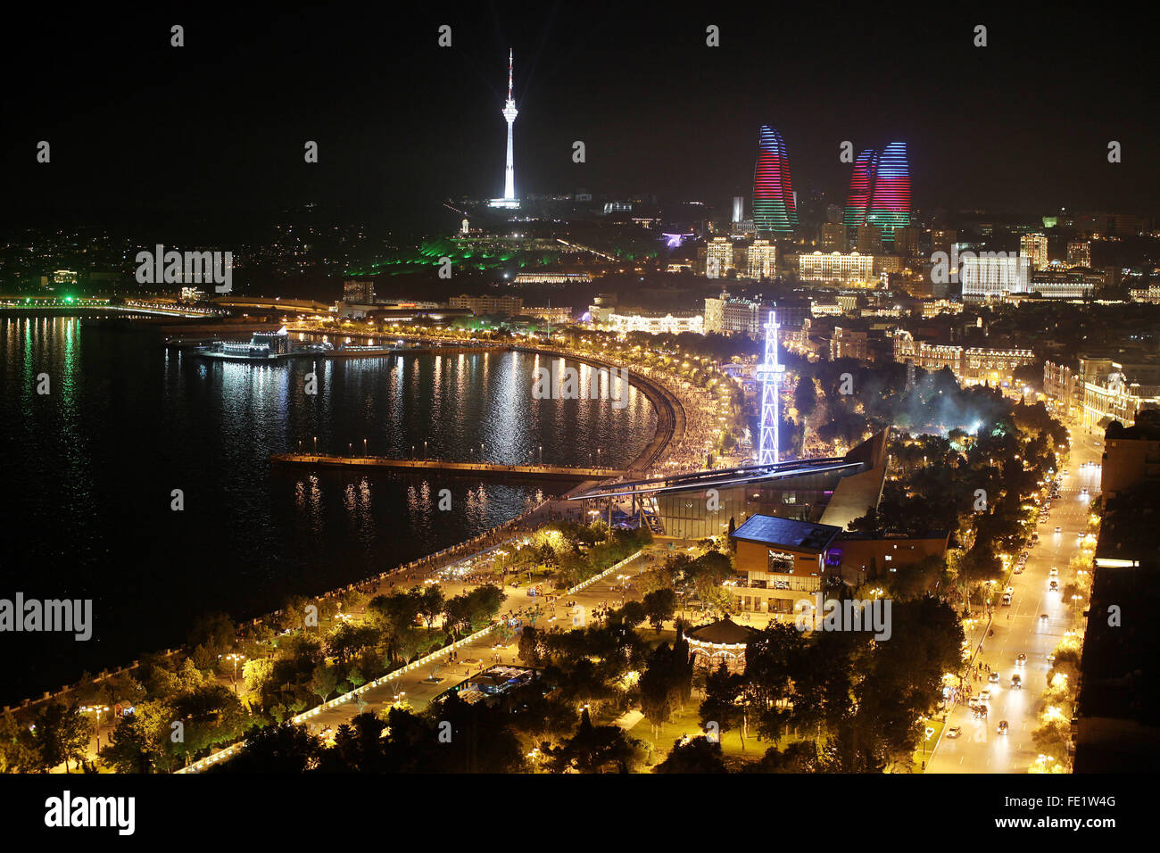 The city of Baku, Azerbaijan Stock Photo