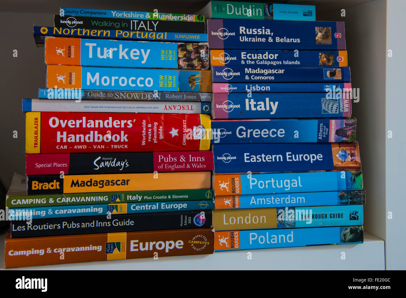 Travel guides - Stock Image