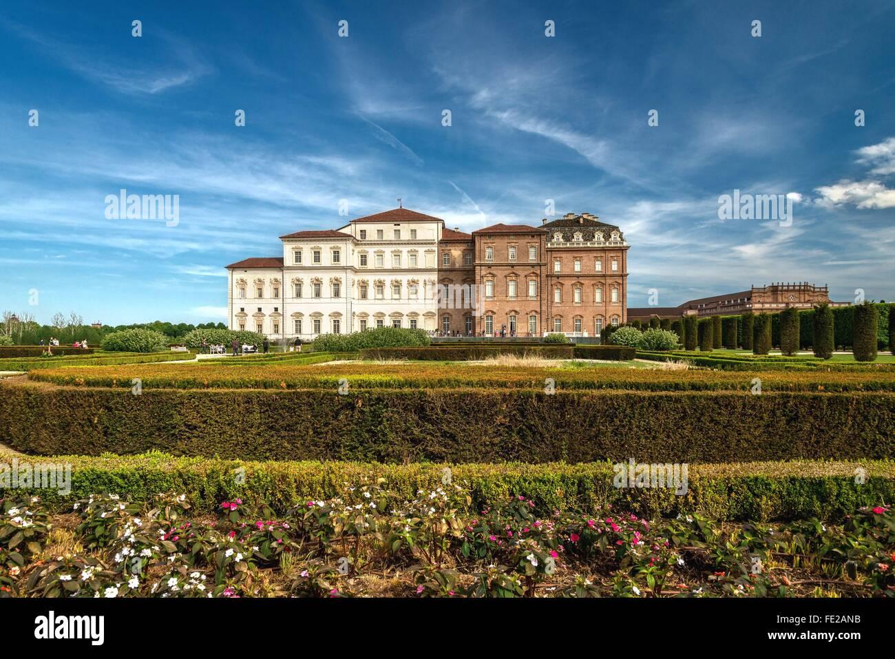 Gardens Of Venaria Castle Stock Photos & Gardens Of Venaria Castle ...