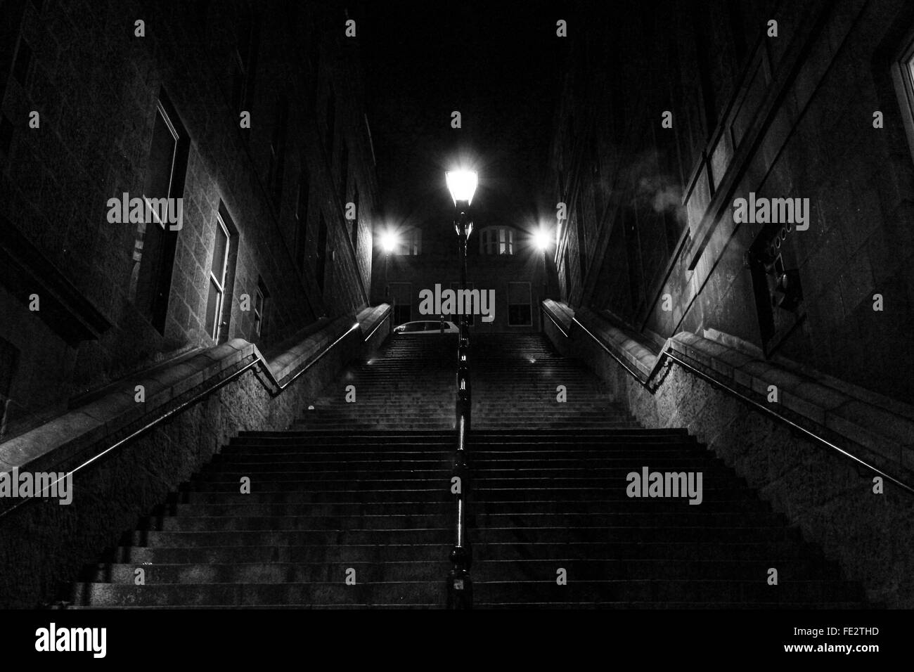 Low Angle View Of Illuminated Steps - Stock Image
