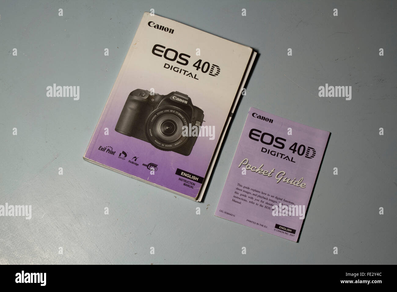 user manual and pocket guide for canon 40d dslr camera stock photo rh alamy com Canon in D Canon Photography