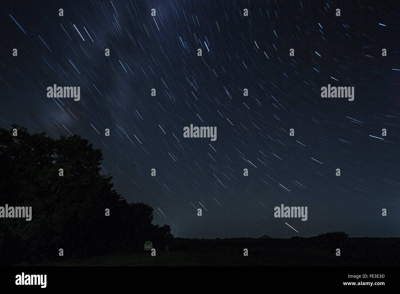 Blurred Motion Of Star Field - Stock Image