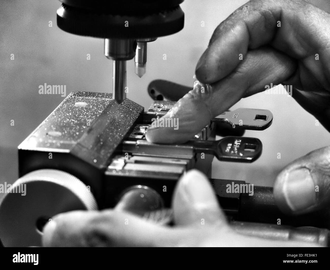 Cropped Image Of Locksmith At Work - Stock Image