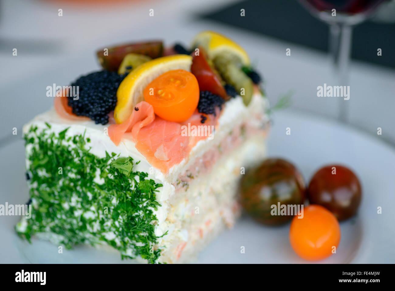 Swedish layer cake - Stock Image