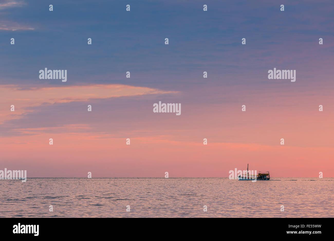 On the Adriatic Sea near Rovinj at the western coast of the Istrian peninsula, Croatia - Stock Image
