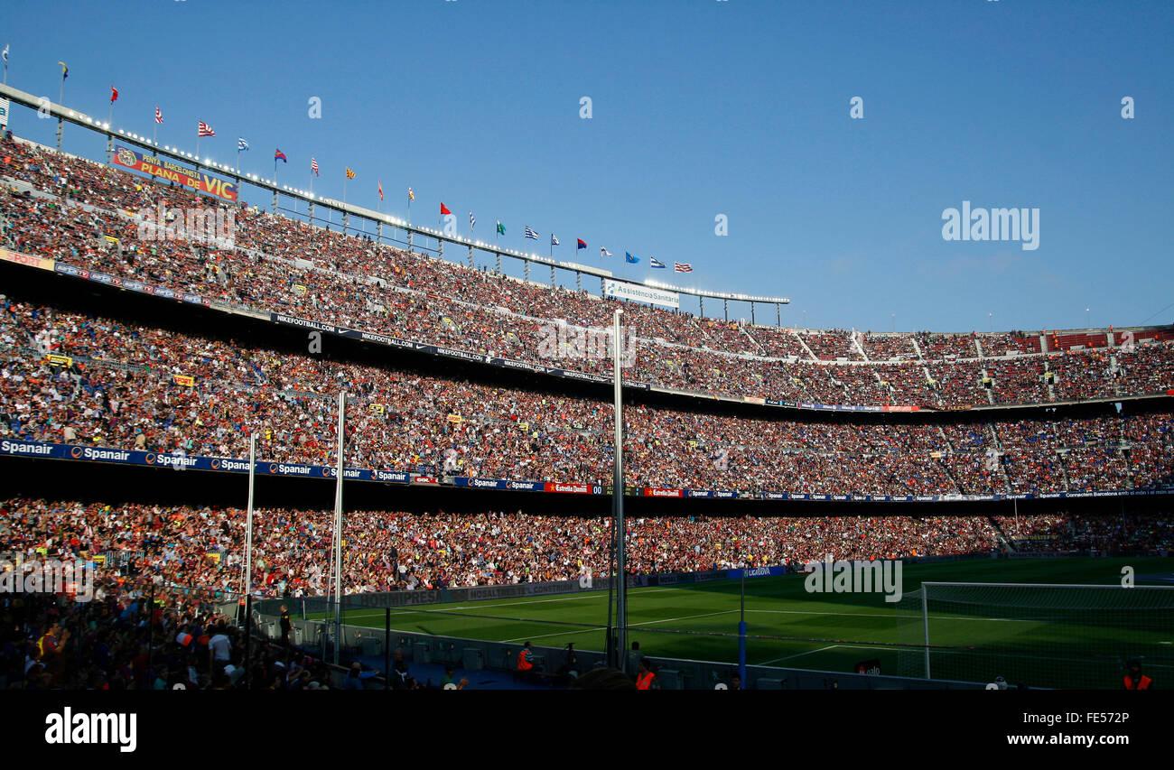 Camp nou stadium, in the city of Barcelona. Football Club Barcelona - Stock Image